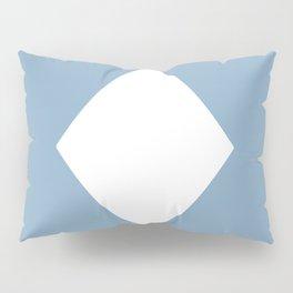 white rhombus on placid blue color background Pillow Sham