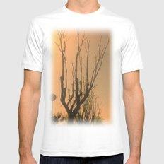 Spiritual trees Mens Fitted Tee White MEDIUM
