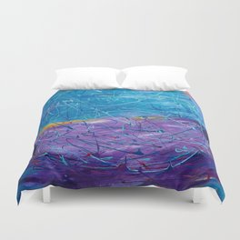 Purple/Blue Abstract Duvet Cover