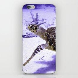 Swimming Hawksbill Turtle iPhone Skin