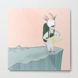 Mountain Goat on an Adventure Metal Print