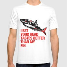Your head tastes better White MEDIUM Mens Fitted Tee