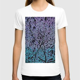 Tangled Tree Branches in Blue and Teal T-shirt