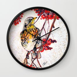 I white ad red Wall Clock