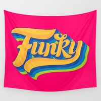 funky Wall Tapestries featuring Funky by Roberlan Borges