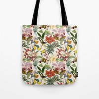 botanical Tote Bags featuring Botanical by Bambouchic