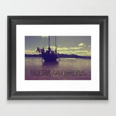 Palabras ( words ) sail , sail  Framed Art Print