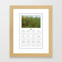 Poppy Meadow 2013 Calendar Framed Art Print