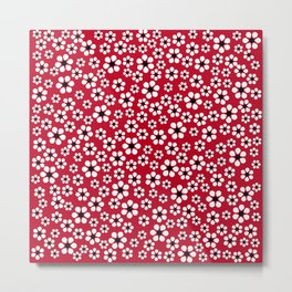 Dizzy Daisies - Red 2 - more colors Metal Print