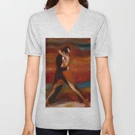 Last Tango in Paris, France Dance portrait Unisex V-Neck