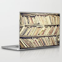 books Laptop & iPad Skins featuring books by PureVintageLove