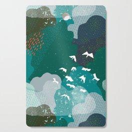 M+M Emerald Forest Bird's Eye View by Friztin Cutting Board