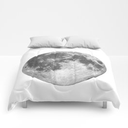 Full Moon phase print black-white monochrome new lunar eclipse poster home bedroom wall decor Comforters