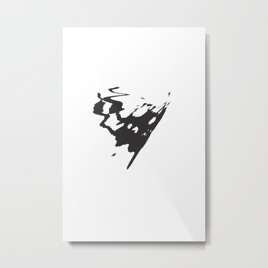 Butterfly Minimal Abstract Metal Print