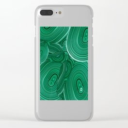Green Malachite Nature Pattern Design Abstract Clear iPhone Case