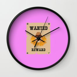 Wanted Wildwest lion poster T-Shirt Dtg7j Wall Clock