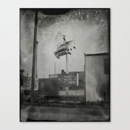 Vintage Signage in North Hollywood - 8x10 Tintype Photo Canvas Print