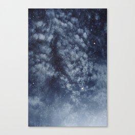 Blue veiled moon II Canvas Print