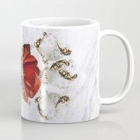 roman Mugs featuring Roman Marble by Eleaxart