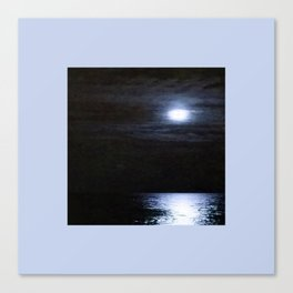 Moon Over Lake Michigan Canvas Print