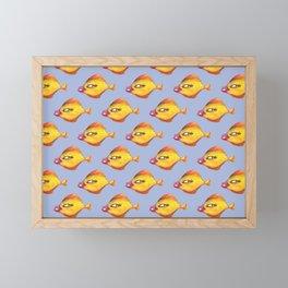 Fish Make Up pattern Framed Mini Art Print