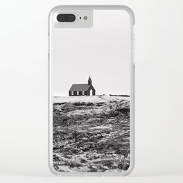 Black and White Photograph - Travel photography Clear iPhone Case