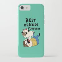 pug iPhone & iPod Cases featuring PUG by Jarvis Glasses