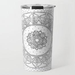 Allowing on White Background Travel Mug