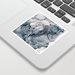 Icy Payne's Grey Abstract Bubble / Snow Painting Sticker