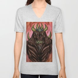 Fire Demon Unisex V-Neck