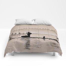 Sunrise Bird Fishing Comforters