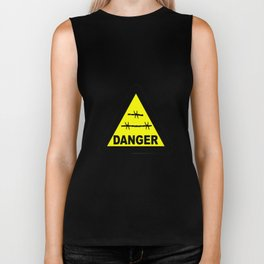 Triangle Barbed Wire Warning Sign Biker Tank