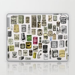 Vintage Victorian food cans Laptop & iPad Skin