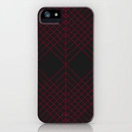 Rubin Red Black iPhone Case