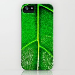 Green Leaf iPhone Case
