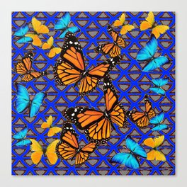 MODERN BUTTERFLY BLUE ABSTRACT WORLD Canvas Print