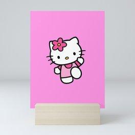 Pink Kitty  Mini Art Print