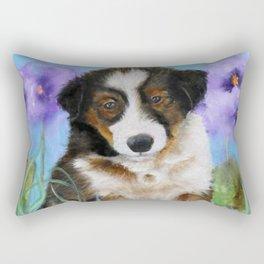 Shetland Sheepdog Puppy Baby Picture Rectangular Pillow