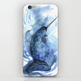 Narwhal Pod Arctic Waters iPhone Skin