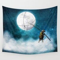 nirvana Wall Tapestries featuring Moonwalk by Diogo Verissimo