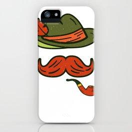 Funny Oktoberfest Face German Hat  Print  iPhone Case