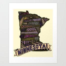 Minnesota! Art Print