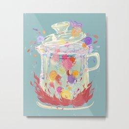 Scented Tea - Nirvana Rebirth of Flowers Metal Print
