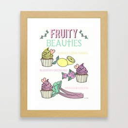 Lets Make Cupcakes! Framed Art Print