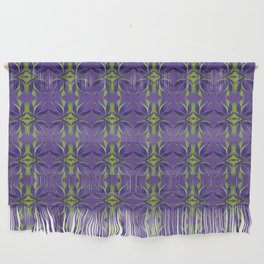 Marijuana Leaves Ultra Violet Pattern Wall Hanging