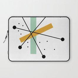 Retro Minimalist Mid Century Modern Pattern Design Laptop Sleeve