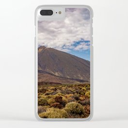Landscape Photo from the Teide Volcano at Tenerife Clear iPhone Case