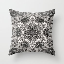 Structural Sepia City Throw Pillow