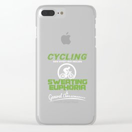 Cycling Sweating Euphoria Cyclist Bicycle MTB BMX Lovers Gifts Clear iPhone Case