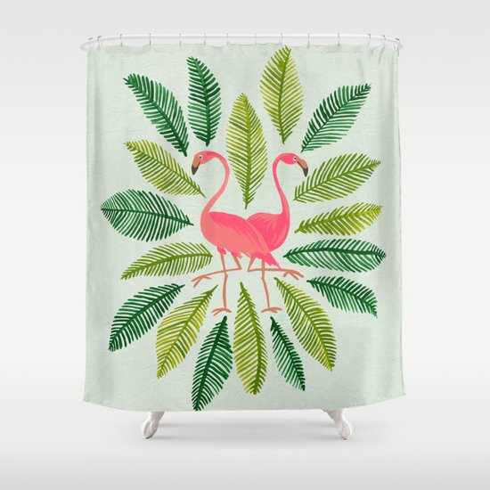 Flamingos Shower Curtain By Cat Coquillette